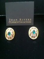 The Origanal 1st Joan Rivers Fabrerge Style Egg Clip Earrings - In Box
