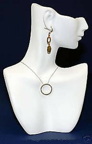 White Figurine Resin Solid Mannequin Pendant Necklace Display Jewelry Bust