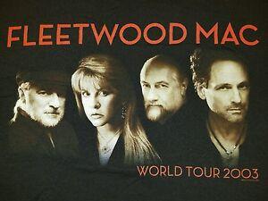 Vtg-2003-Fleetwood-Mac-Concert-Band-World-Tour-Men-s-T-Shirt-Size-Medium