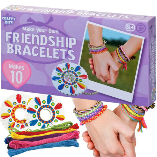 MAKE YOUR OWN FRIENDSHIP BRACELETS KIT ACTIVITY CRAFT BIRTHDAY PARTY BAG FILLER