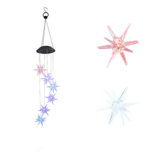 Color-Changing LED Solar Powered Hummingbird Wind Chime Lights Yard//Garden Decor