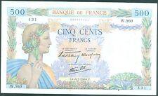 BILLETS 500 FRS  LA PAIX  DATE  26-9-1940    ETAT Pr TTB   W.960