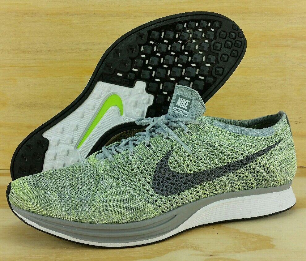 Nike flyknit racer scarpa da corsa, pistacchio 526628-103 taglia 14 posto grigio bianco