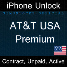 APPLE IPHONE 7 6 5S 5C 5 ATT PREMIUM FACTORY UNLOCK CODE SERVICE