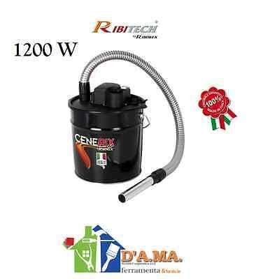 Bidone Aspiracenere elettrico Ribitech Cenerix 1200W aspira cenere stufe pellet