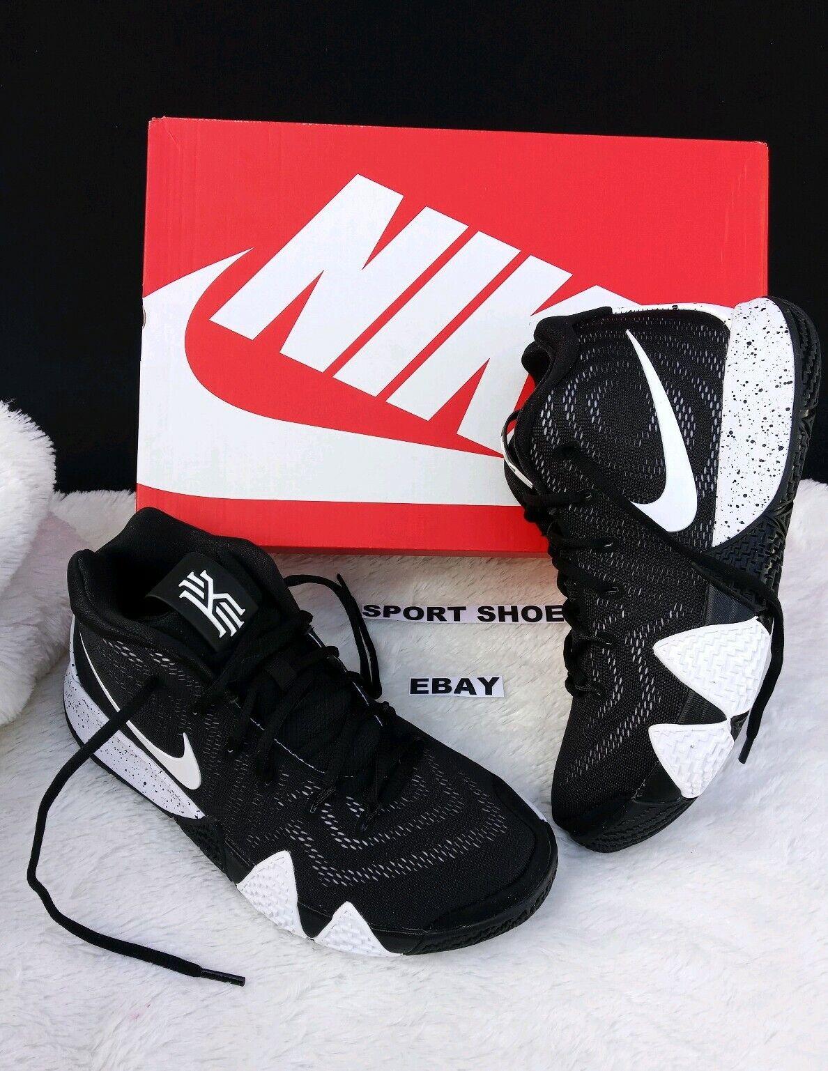 8 MEN'S Nike Kyrie 4 TB Team Basketball Black White Irving Sneakers AV2296 001