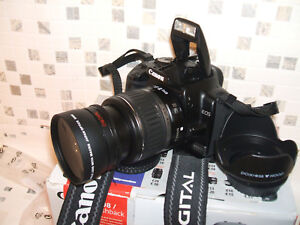 Details about Canon EOS 400D / 10 1 MP Digital SLR Camera - Black WITH  THREE LENSES