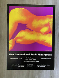 First-International-EROTIC-FILM-FESTIVAL-Poster-1971-PAUL-KAGAN-Psychedelic
