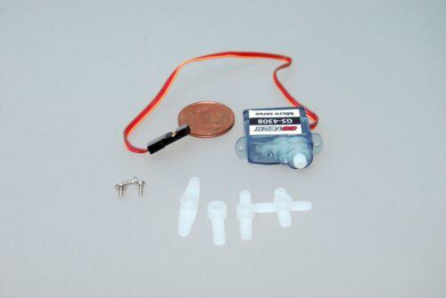 4,4g Micro servo 0,8kg//cm 0,1sec gs-4308 pour indoor et parkflyer