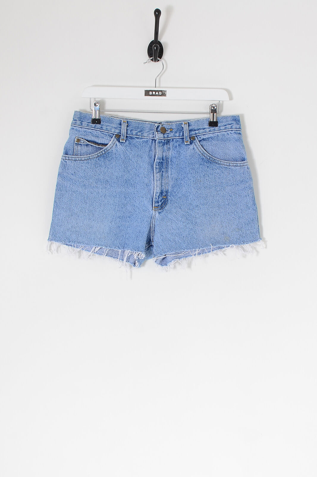 Vintage Lee Abgetrennte Denim Shorts Hellblau (W31)
