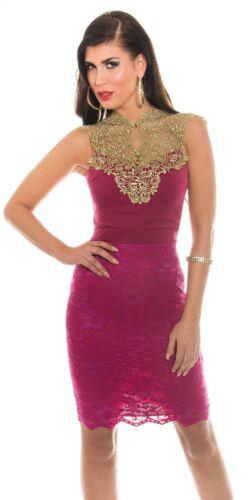 Koucla Cocktail Kleid Party Pencilkleid Abendkleid Dress Stickerei