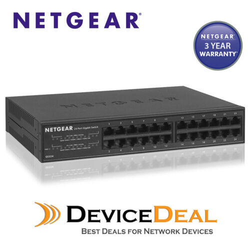 Netgear GS324 24 Port Gigabit Unmanaged wall//rack-mountable Ethernet Switch