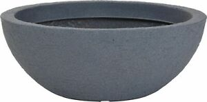 Very Large Oval Shaped Deep Planter Grey Stone Effect Plant Pot Planters