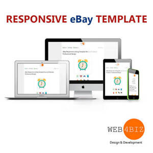 EBay Template Responsive Listing Template Up To Images In Product - Ebay product listing template