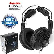 Superlux HD668B Semi-open Dynamic Professional DJ Studio Headband Headphones New