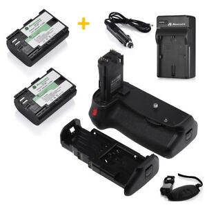 Details about Battery Grip For Canon EOS 70D BG-E14 DSLR Camera + 2 LP-E6  Batteries + Charger