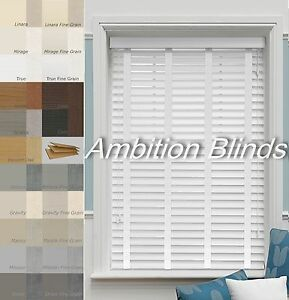 Image Is Loading Faux Wood Wooden Venetian Blinds With Tapes Child