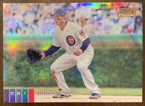 Anthony Rizzo 2020 Topps Stadium Club Chrome Parallel Chicago Cubs 37/99