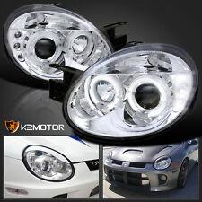2003-2005 Dodge Neon Chrome LED Halo Projector Headlights Pair