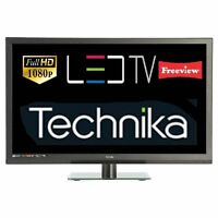 "Technika 24F22B-FHD 24"" Slim LED TV Full HD 1080p Combi DVD With Freeview Black"