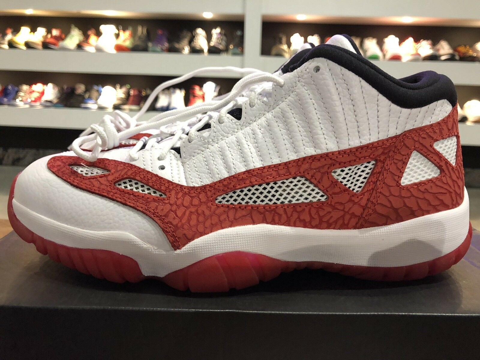 Jordan 11 Low IE In Wht Gym Red Blk Sz 9.5 New In Box 100% Authentic