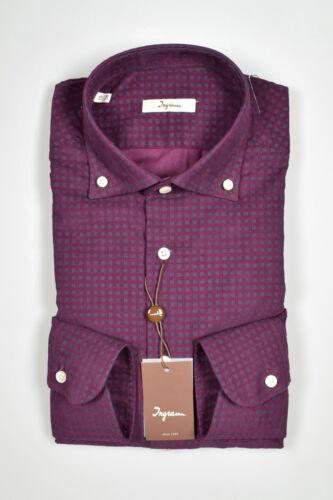 Ingram Inverno18 Camicia Button 19 Velluto In Down Regular Bordeaux Fit Stampato IwTTqxgU
