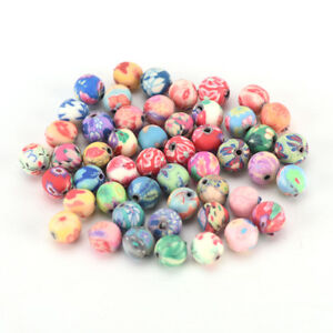 500pcs-6mm-mixed-flowers-polymer-fimo-clay-round-diy-findings-loose-beads-LJ