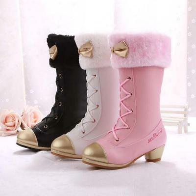 Kids Girls Lolita Pearl Summer Hollow Out Ankle Boots Lace Princess Dress Shoes@