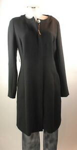 38 Jacket Coat Long Black Viscose Blazer Apriori Short New Polyester 6w1qx