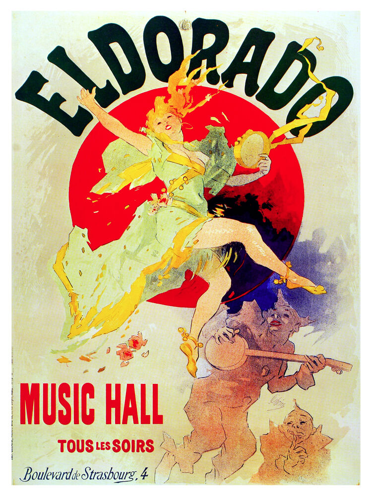 El Dorado Music hall Vintage POSTER. French Graphic Design.Art Decoration.3281