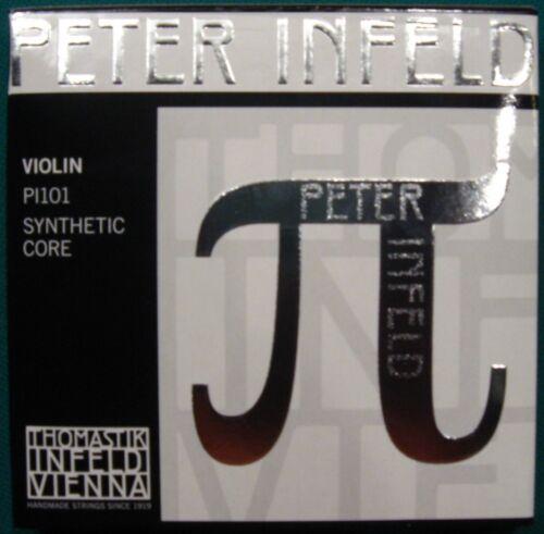 Thomastik Peter Infeld Saiten E-Chromstahl,PI101 Kompletter Satz  4//4-Violine