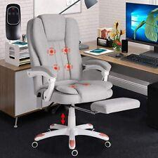 Ergonomic Massage Office Chair High Back Fabric Executive Computer Desk Chair