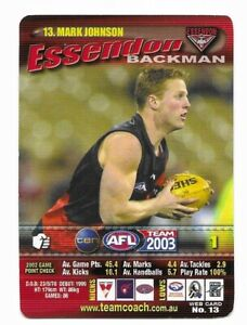 25 2012 Essendon 2000 AFL Premiership 10th Anniversary Collector Card Set