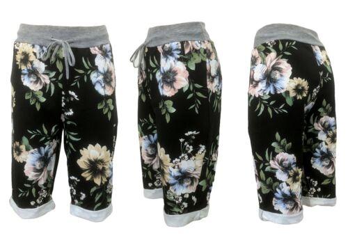 Damen Shorts kurze Hosen Bermuda SHORTS kurze Sommerhose Gummibund 38-42