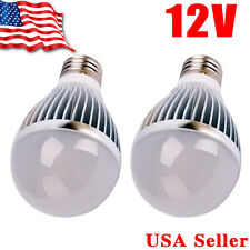 2 x Ultra Bright 5W 12V E27 Home LED Energy Saving Bulb Lights 6000K White E26