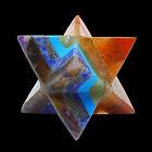 Multistone 7 Chakra Merkaba Star Reiki Gemstone Spritual Healing Sacred Geometry