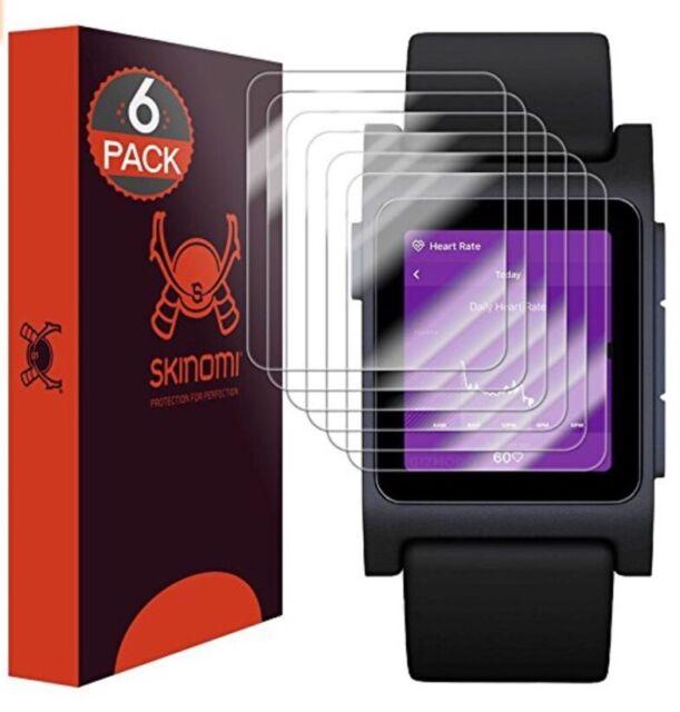 Skinomi Transparent Montre Protections D'Écran (6-pack) pour Galet 2 Smartwatch