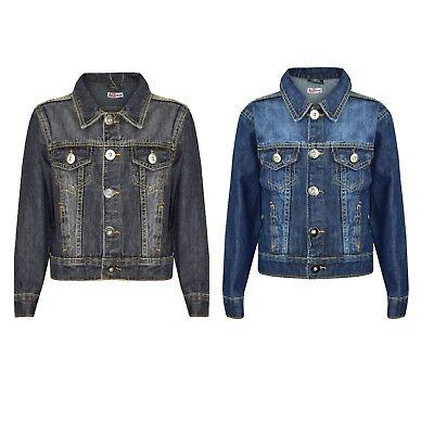 Bambini Ragazzi Giubbotto Di Jeans Design Giacca Cappotto Alla Moda New Age Fabbriche E Miniere