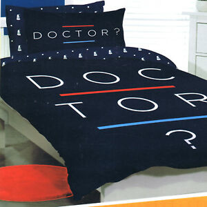 Doctor Dr Who Double Us Full Bed Quilt Doona Duvet Cover Set