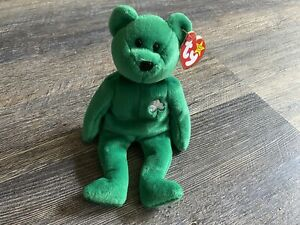 NWT Vintage Toy Gift For Child Children Toys Birthday Gift Green Bear Girl For Boy Collectible Toys Retired Ty Beanie Babies Erin