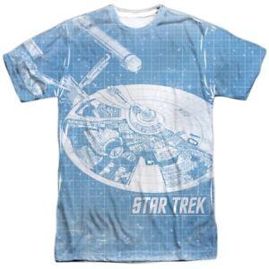 New Authentic Star Trek Cartoon Crew running NCC-1701 Allover Front T-shirt top