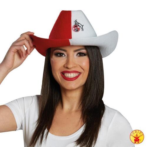 Fan Zubehör Hut Mütze Cap Fedora Cowboyhut Sonnencap Hennes Rubies 1.FC Köln