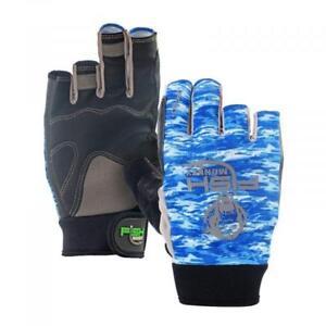 BLUE//GREY Fish Monkey The Crusher Fishing Glove FM15-RBGREY-XL Extra LG