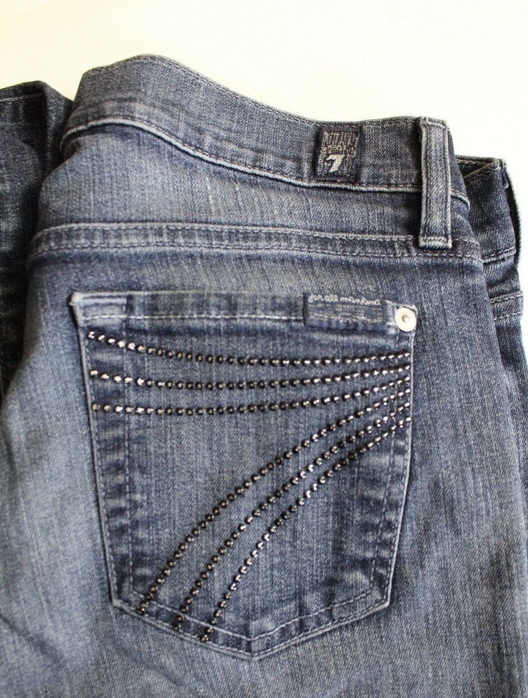 7 For All Mankind Womens Dojo Jeans Size 26 Sequined