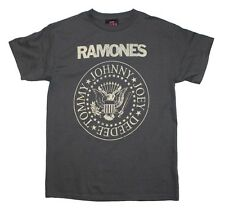 Ramones Distressed Logo Seal Cotton T Shirt (Size: Sm - 3XL)