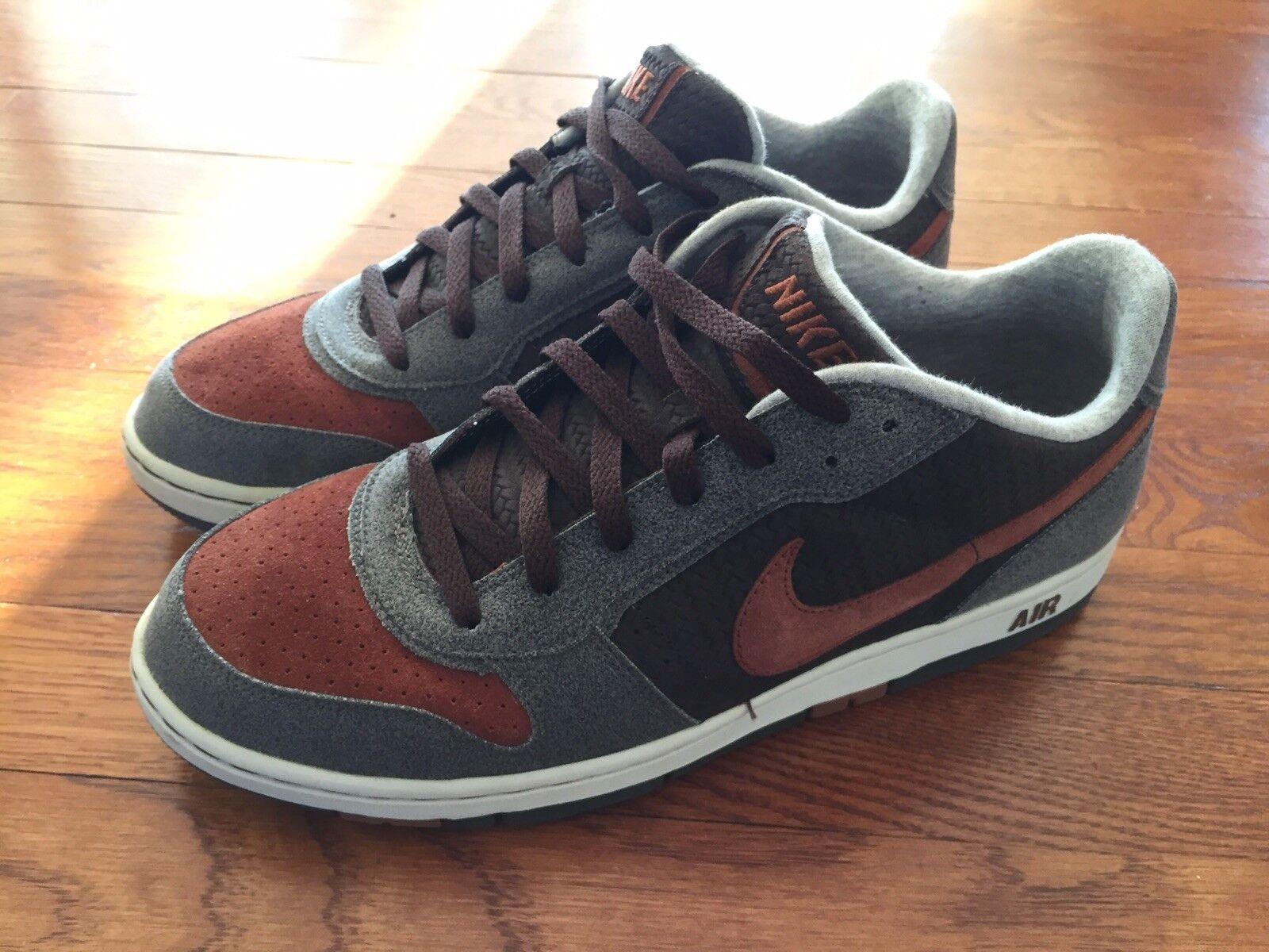 Nike air niedrig - männer grau / Braun / terrakotta - männer - größe 10,5