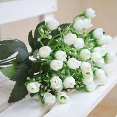 False Plastic Bouquets Outdoor Plants 36 Heads Flowers Fake Garden Artificial