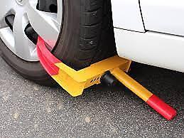 Car van HEAVY DUTY WHEEL CLAMP CLAW LOCK CARAVAN BOAT TRAILER high security