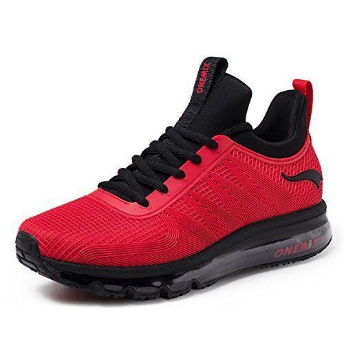 ONEMIX Running shoes Men Air Cushion Lightweight Sport shoes - RED - Size 6.5M