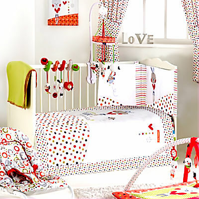 RED KITE COTTON TAIL COSI COT 4 PIECE BEDDING SET TO FIT COT AND COT BED
